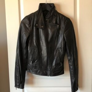 Genuine Aritzia leather jacket extra small